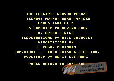 Electric Crayon Deluxe: Teenage Mutant Hero Turtles: World Tour