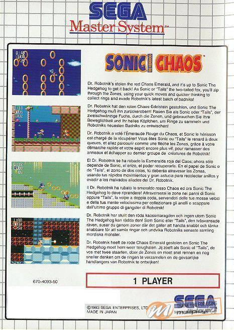 Sonic The Hedgehog Chaos
