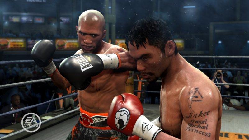 Scontro tra titani in un video di Fight Night Round 4