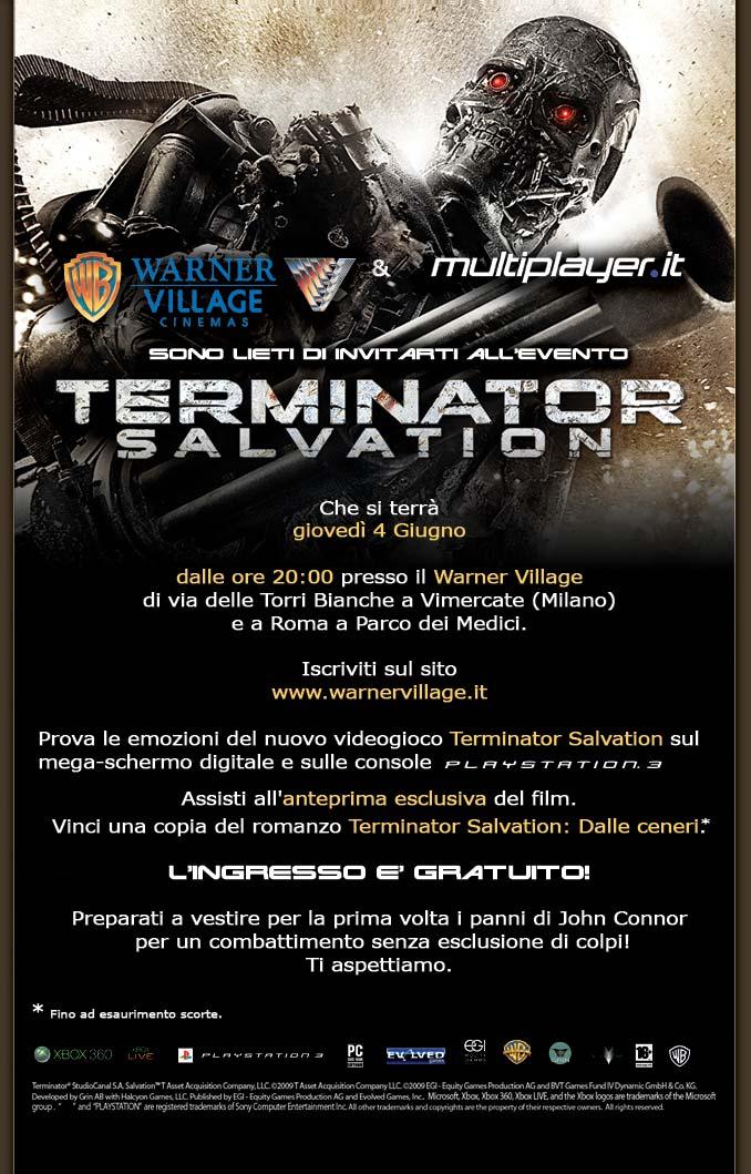 Warner Village e M.it insieme per Terminator Salvation