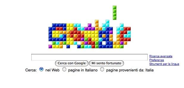 Google festeggia il venticinquesimo anniversario di Tetris