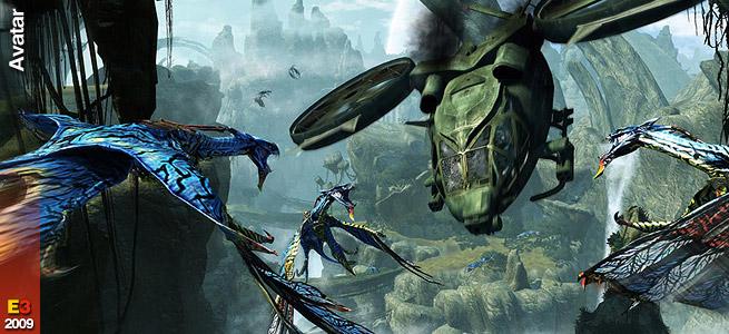 Un Avatar blu alto tre metri