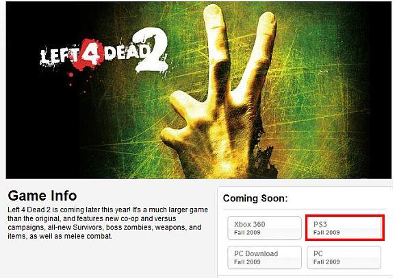 Left 4 Dead 2 anche su PlayStation 3?