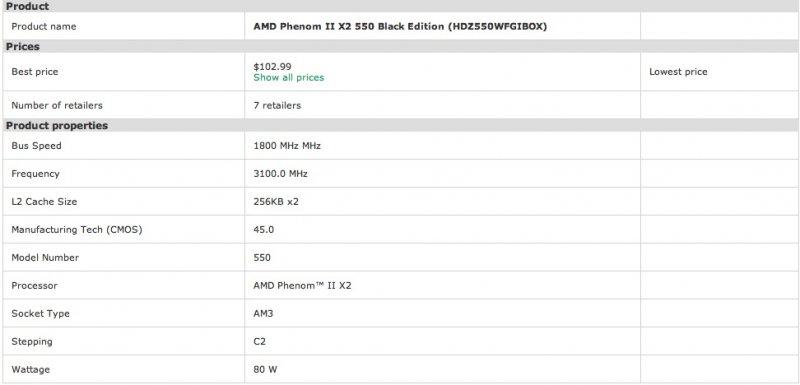 Phenom II X2 550