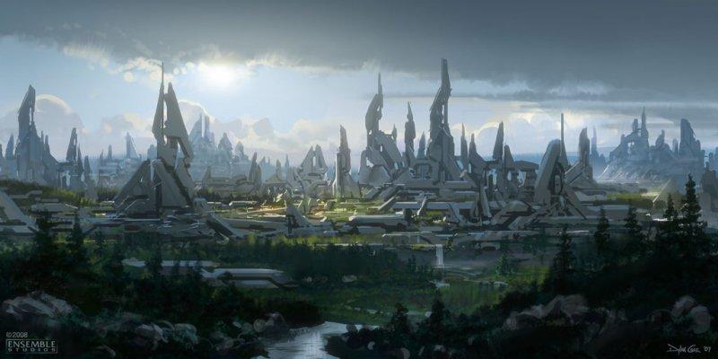 Artwork su un misterioso Halo Universe