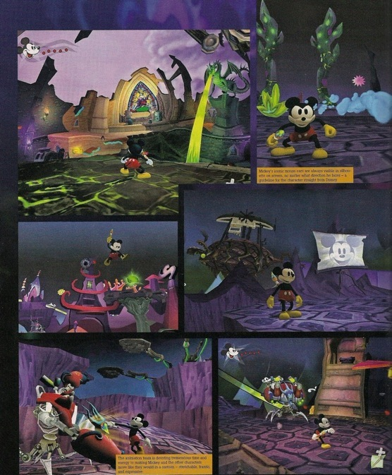 Epic Mickey: scan dal GameInformer