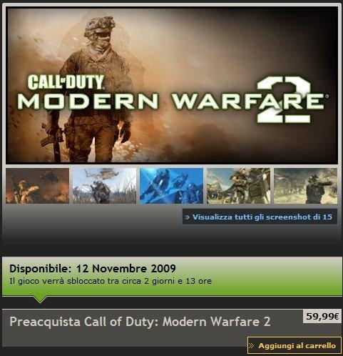 Niente reset per il multiplayer di Modern Warfare 2