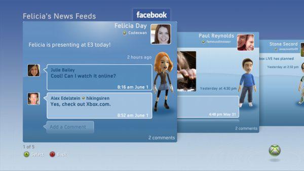 Facebook e Twitter arrivano il 17 novembre su Xbox 360