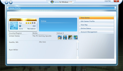 Games on Demand raggiunge anche Games for Windows Live