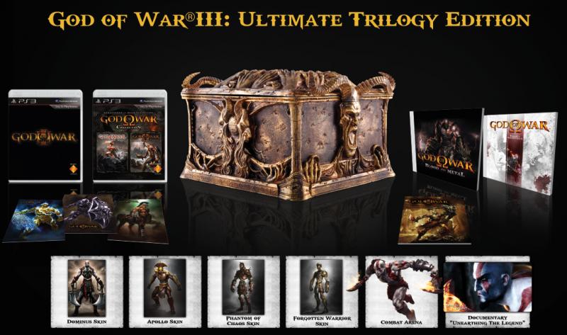 Apre il sito europeo di God of War III. Foto e dettagli della Trilogy Ed.