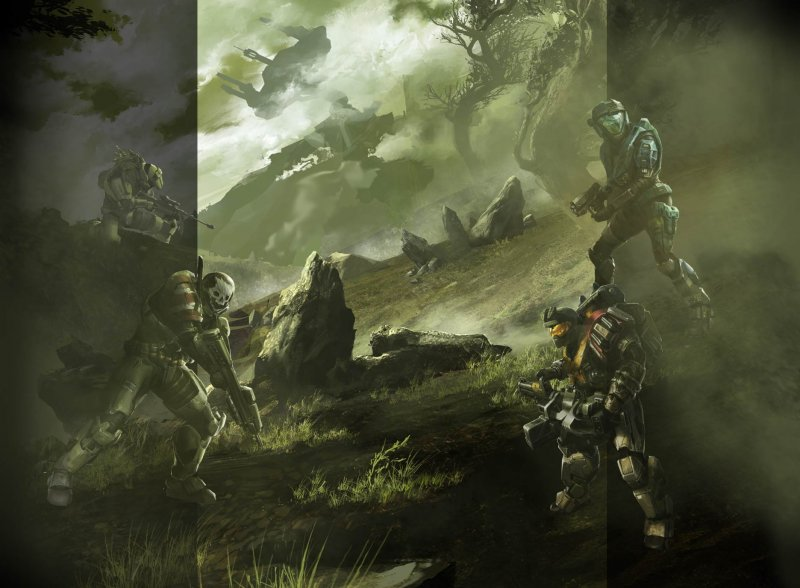 Un artwork inedito per Halo Reach