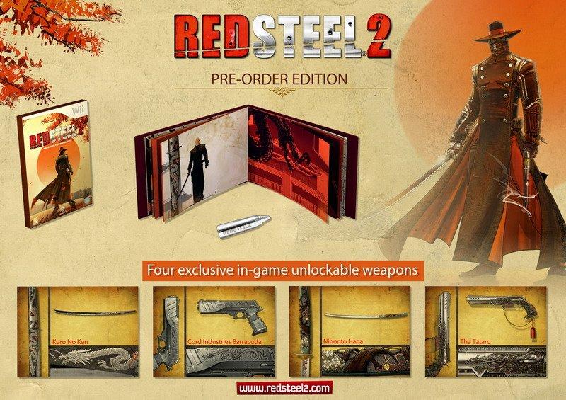 I contenuti del pre-order pack di Red Steel 2
