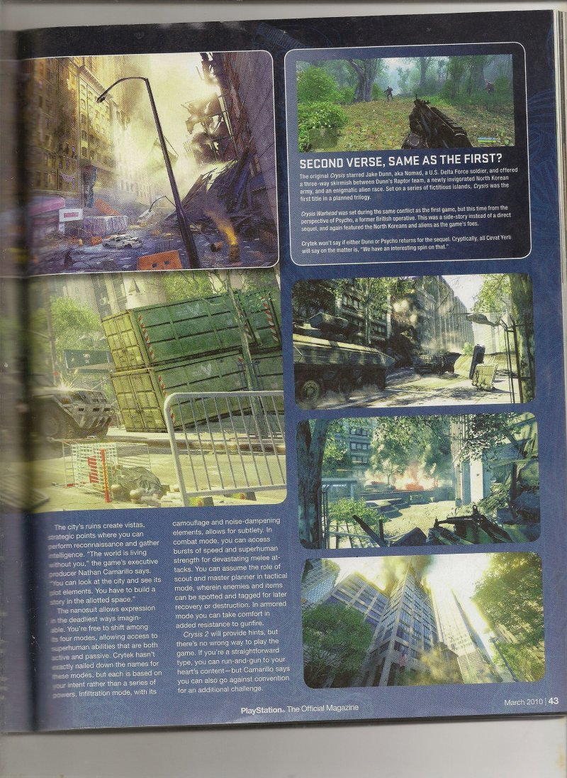 Crysis 2: ancora nuovi scans
