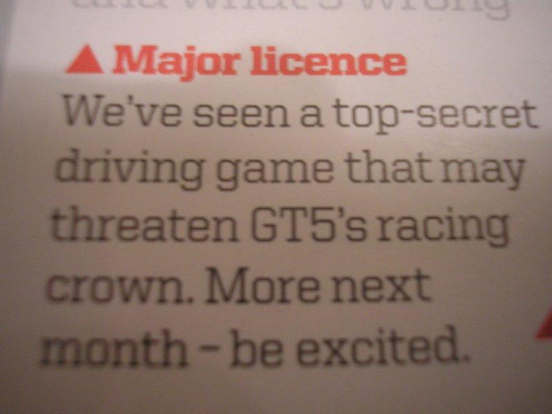 Un titolo di guida 'Top Secret' minaccia GT 5?