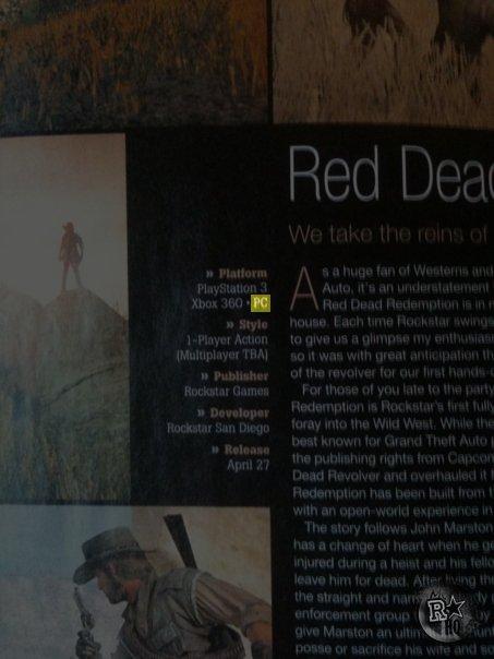 Red Dead Redemption in sviluppo per PC?
