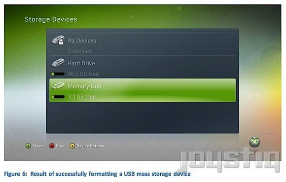 Supporto per immagazzinamento dati via USB per Xbox 360