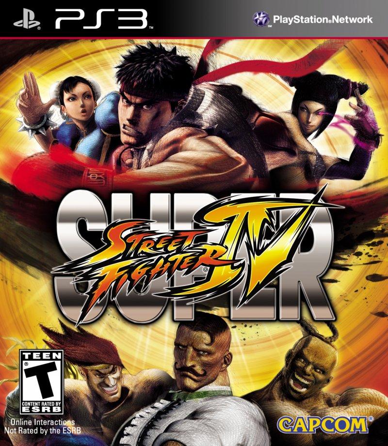 La copertina ufficiale di Super Street Fighter IV