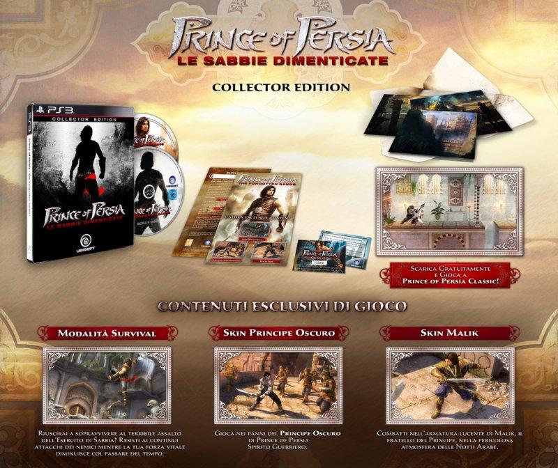 Annunciata la collector di Prince of Persia: Le Sabbie Dimenticate