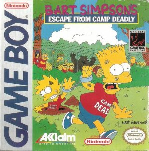 Bart Simpson's Escape from Camp Deadly per Game Boy