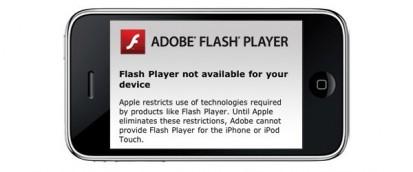Adobe getta la spugna: niente Flash per iPhone OS