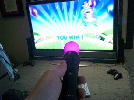 Prime foto del Playstation Move in action