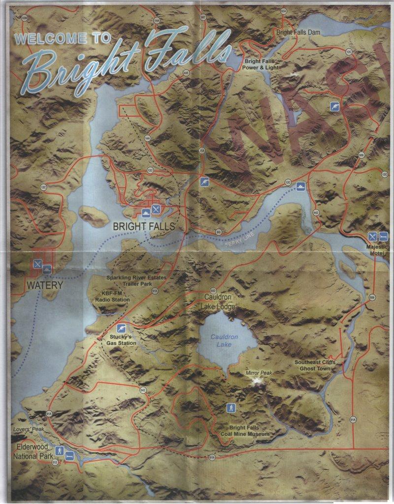 La mappa intera di Alan Wake