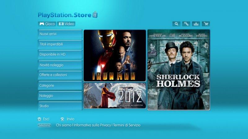 Da oggi attivo in Italia il Video Delivery Service di PS3!