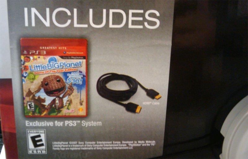 [Aggiornamento] Il cavo HDMI torna nei bundle PS3?