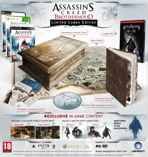 "Una ""Limited Codex Edition"" per Assassin's Creed Brotherhood"