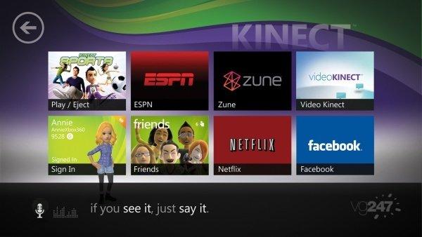 La Dashboard per Kinect in immagini