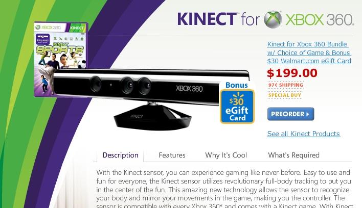Microsoft difende il prezzo di Kinect