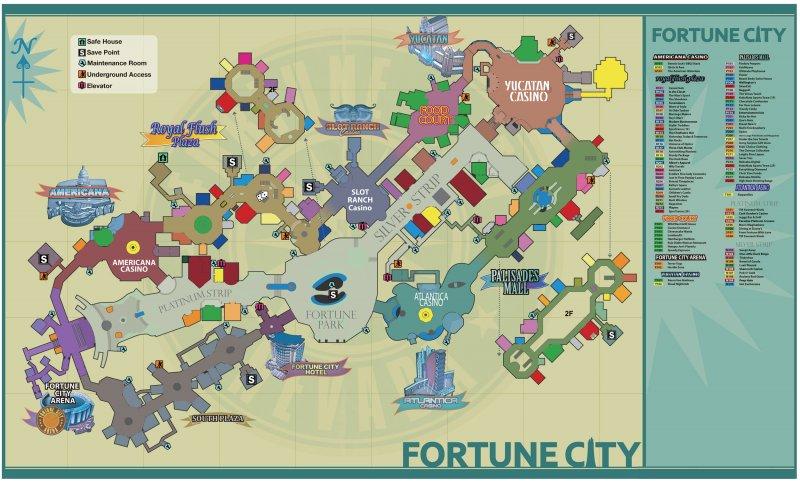Dead Rising 2: la mappa di Fortune City