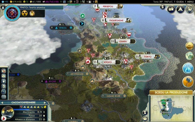 Grossa patch in lavorazione per Civilization V