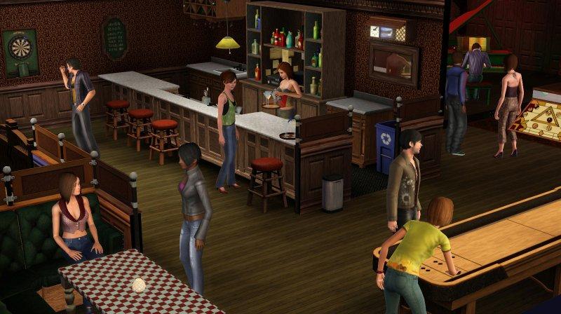 Immagini dei bar di The Sims 3: Late Night