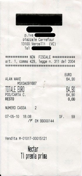 Sessanta Euro alla cassa