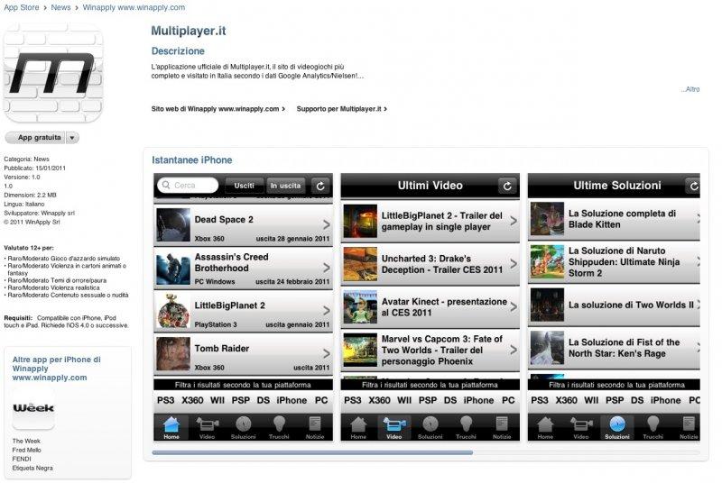 Multiplayer.it iPhone App