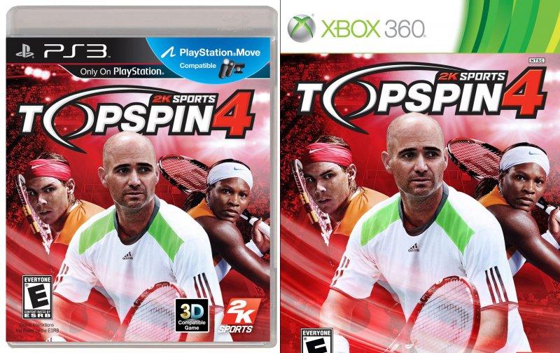 Top Spin 4 packshots - si al Move no al Kinect