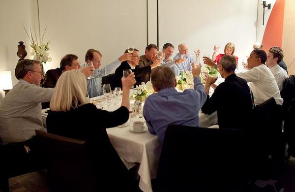 Steve Jobs sta bene, ieri a cena con Obama