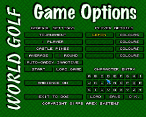 World Golf per Amiga