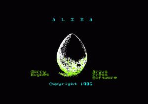 Alien per Amstrad CPC