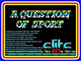 A Question of Sport per Amstrad CPC