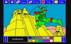 Electric Crayon Deluxe: Teenage Mutant Hero Turtles: World Tour per Amstrad CPC