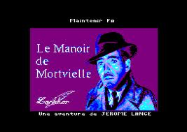 Le Manoir de Mortevielle per Amstrad CPC