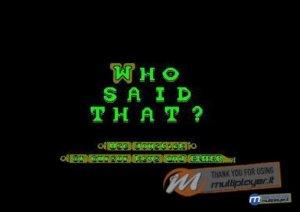 Who Said That? per Amstrad CPC