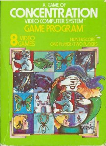 Concentration per Atari 2600
