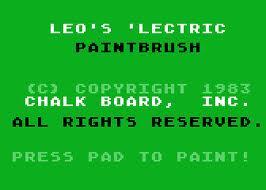 Leo's 'Lectric Paintbrush per Atari 2600