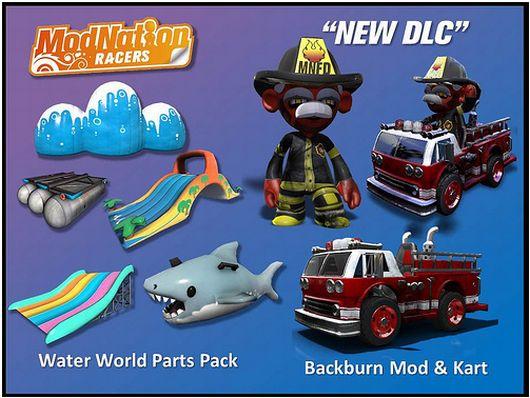 Nuovi DLC per Modnation Racers