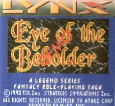 Advanced Dungeons & Dragons: Eye of the Beholder per Atari Lynx