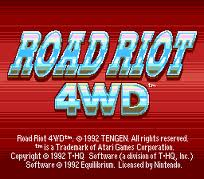 Road Riot 4WD per Atari Lynx