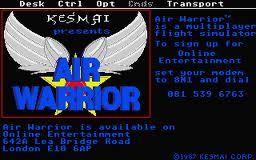 Air Warrior per Atari ST